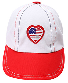 1st Step Baseball Cap Large White - Heart Patch