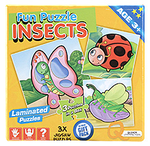 Quixot Fun Laminated Puzzle Insects