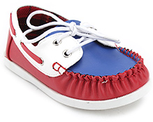 Doink Leather Canvas Shoes - Red and Blue