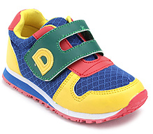 Doink Colorful Net Upper Velcro Strap Sports Shoes