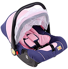 Mee Mee Carry Cot Cum Car Seat - Pink And Navy Blue