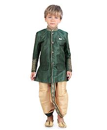 Ethniks Neu Ron Dhoti Kurta And Pajama Set - Green