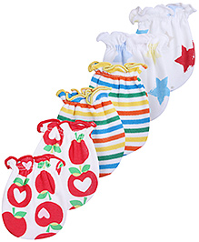 Babyhug Multi Print Mittens Set- Pack of 3