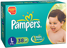 Pampers Diaper Large - 38 Pieces