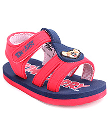 Tom and Jerry Dual Color Sandals with Velcro Strap - Blue and Red