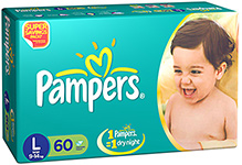 Pampers IMax Diapers Large - 60 Pieces