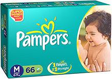Pampers Diapers Medium - 66 Pieces