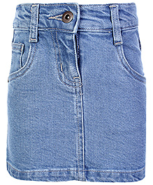 Dreamszone Denim Short Skirt  - Light Blue