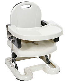Mastela Booster to Toddler Seat - Grey And Cream