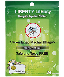 Liberty Lifeasy Mosquito Repellent Patches - 24 Patches