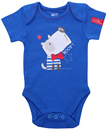 FS Mini Klub Short Sleeves Onesies Royal Blue - Puppy Patch