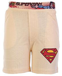 Cucumber Shorts Orange - Superman Print