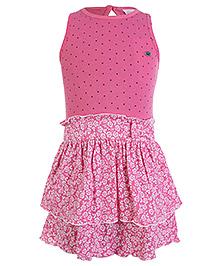 FS Mini Klub Sleeveless Drop Waist Dress - Pink