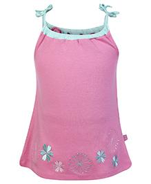 FS Mini Klub Singlet Frock Pink - Embroidered Border