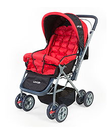 Luv Lap StarShine Stroller Cum Pram - Red And Black