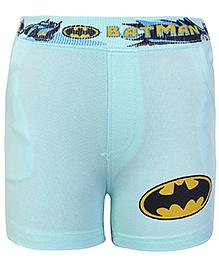 Cucumber Shorts Light Green - Batman Print