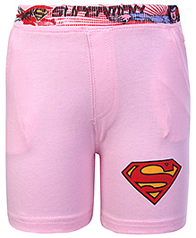Cucumber Shorts Light Pink - Superman Print
