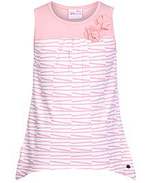 FS Mini Klub Line Print Sleeveless Top- Pink