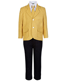 SAPS Full Sleeves Four Piece Party Suit - Yellow
