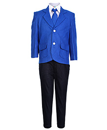 SAPS Full Sleeves Four Piece Party Suit - Blue
