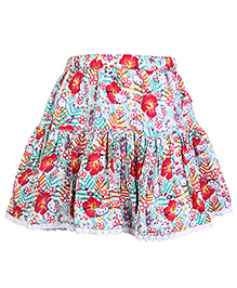 Hello Kitty Skirt Floral Print With Lace