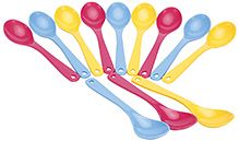 Fab N Funky Multi Coloured Spoon Set - 12 Pieces - 12 Pieces