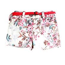 Nauti Nati Beach Shorts With Belt - Floral Print