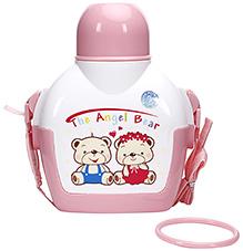 Fab N Funky The Angel Bear Print Pink Water Bottle - 700 ml