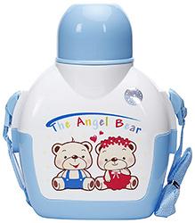 Fab N Funky The Angel bear Print Water Bottle- Blue