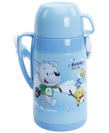 Fab N Funky Blue Water Bottle with Cup - 510 ml