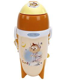 Fab N Funky Brown Water Bottle with Cartoon Print