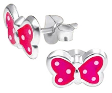 Tanyas Jewelry Beautiful Dotted Butterfly Earrings- Pink