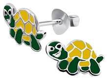 Tanyas Jewelry Beautiful Turtle Earrings- Yellow and Green