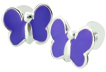 Tanyas Jewelry Beautiful Butterfly Earrings- Purple
