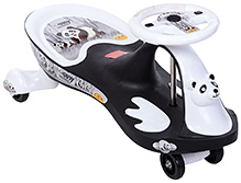 Toyzone Baby Panda Printed Manual Rideon Car - Black And White - 3 Years+