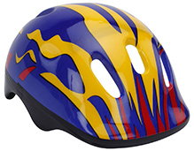Fab N Funky Printed Helmet - Blue And Orange