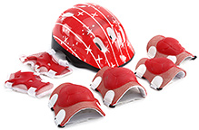 Fab N Funky Star Print Sports Protective Gear Set - Red