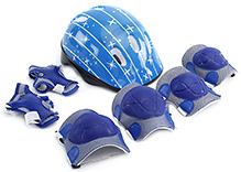 Fab N Funky Star Print Sports Protective Gear Set - Blue