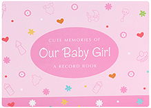 Archies Baby Record Book Pink - Girl