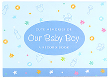 Archies Baby Record Book Blue - Boy