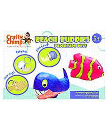 Crafty Chimp Paper Tape Pets - Beach Buddies