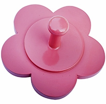 Fly Frog Flower Shaped Peg Wall Hook - Pink - Peg Diameter 6 Inches