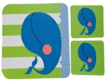 Fly Frog Dolphin Printed Mouse Pad And Coasters