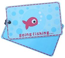 Fly Fag Fish Printed Luggage Tag