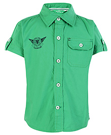Palm Tree Half Sleeves Shirt - Green