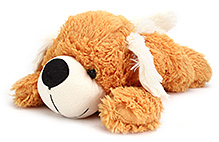 IR Sleeping Dog Soft Toy Small - Brown