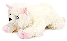 IR Cat Soft Toy With Cute Pow - White