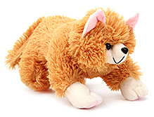 IR Cat Soft Toy - Light Brown