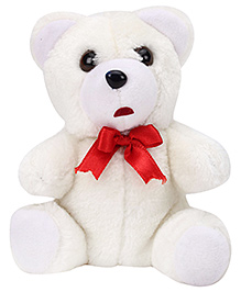 IR Teddy Soft Toy Short Fur - White