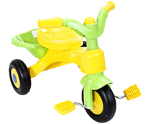 Fab N Funky Tricycle With Back Basket - Yellow And Green
